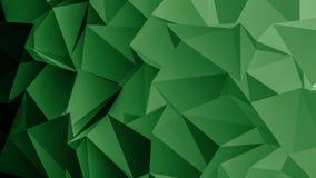 Fondo verde del poligono Fotografia Stock