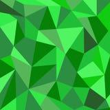 Fondo verde del triángulo Fotografía de archivo