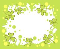 Fondo verde del trifoglio fotografia stock