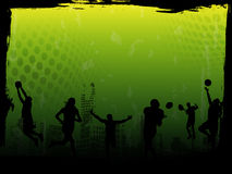 Fondo verde del vector de los deportes Imagenes de archivo