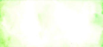 Fondo verde dell'acquerello astratto e bianco dipinto a mano, Immagini Stock