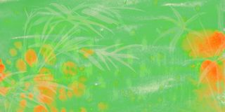 Fondo verde dell'acquerello illustrazione di stock