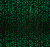 Fondo verde della matrice con le cifre Codice macchina per la cifratura e codificare illustrazione di stock