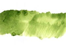 Fondo verde della striscia dell'acquerello Struttura (di carta) increspata Immagine Stock
