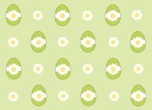 Fondo verde delle uova di Pasqua Immagine Stock Libera da Diritti