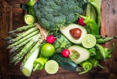 Fondo verde delle verdure Fotografie Stock