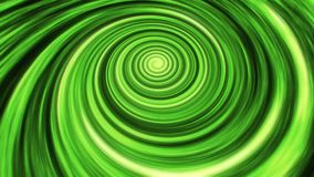 Fondo verde di animazione di vortice del filo di ordito di tempo dello spazio stock footage