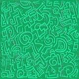 Fondo verde di arte Immagine Stock
