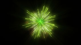 Fondo verde di festa dei fuochi d'artificio, contro il nero illustrazione vettoriale