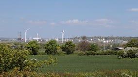 Fondo verde di industriale e della campagna stock footage