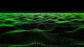 Fondo verde di moto, ciclo di superficie animato ondulato stock footage
