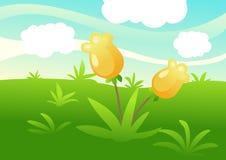 Fondo verde di paesaggio royalty illustrazione gratis