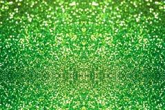 Fondo verde di struttura del bokeh di scintillio Fotografia Stock