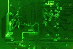 Fondo verde di struttura del bordo di madre del circuito illustrazione di stock
