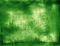 Fondo verde di struttura del colpo della spazzola Immagini Stock