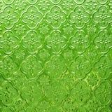 Fondo verde di vetro di modello Fotografie Stock