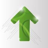 Fondo verde di vettore della freccia ENV 10 Fotografie Stock