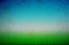 Fondo verde e blu di lerciume Fotografie Stock