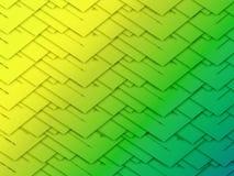 Fondo verde e giallo Fotografia Stock