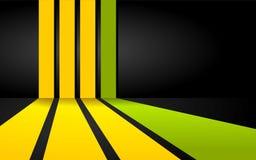 Fondo verde e giallo delle bande Royalty Illustrazione gratis