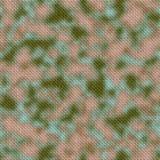 Fondo verde e marrone dell'esercito del terreno boscoso del cammuffamento del tessuto di struttura Fotografia Stock