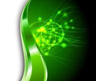 Fondo verde - flamas de la energía Fotografía de archivo