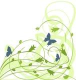 Fondo verde floral libre illustration