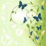 Fondo verde floral ilustración del vector