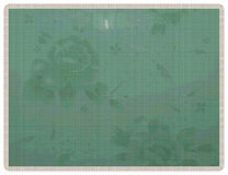 Fondo verde floreale su stile tricottato Fotografia Stock