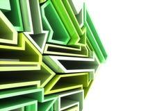 Fondo verde geométrico de las flechas libre illustration