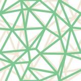 Fondo verde geométrico de los esquemas del triángulo del extracto del vector Conveniente para la materia textil, el papel de rega libre illustration