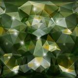 Fondo verde geometrico astratto di vettore Fotografia Stock Libera da Diritti