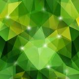 Fondo verde geometrico astratto moderno Immagine Stock Libera da Diritti