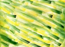 Fondo verde giallo di struttura dell'estratto dell'acquerello Illustrazione inclinata disegnata a mano di lerciume dei colpi dell immagini stock