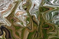 Fondo verde, giallo e bianco astratto Fotografia Stock Libera da Diritti