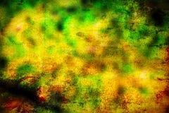 Fondo verde, giallo ed arancio astratto di lerciume fotografia stock