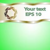 Fondo verde grafico per testo ed il messaggio Fotografia Stock