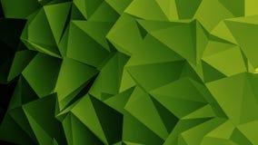 Fondo verde intenso del poligono Fotografia Stock