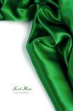 Fondo verde liso del satén Foto de archivo libre de regalías