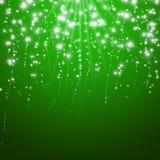 Fondo verde mágico de la Navidad Imagen de archivo libre de regalías
