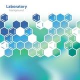 Fondo verde mar abstracto del laboratorio. Imagen de archivo libre de regalías