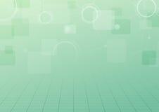 Fondo verde moderno de la conexión de la tecnología Fotos de archivo libres de regalías