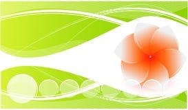 Fondo verde natural stock de ilustración