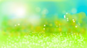 Fondo verde natural del bokeh del verano libre illustration