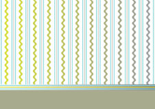 Fondo verde oliva decorativo con las rayas y las ondas Foto de archivo