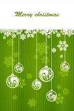 Fondo verde para la Navidad Fotos de archivo