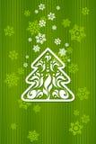 Fondo verde para la Navidad Foto de archivo libre de regalías