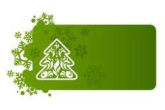 Fondo verde para la Navidad Foto de archivo