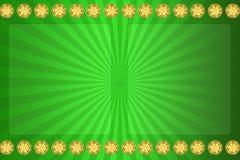 Fondo verde per il casinò Immagini Stock