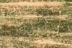 Fondo verde pintado de madera del marco del viejo vintage Fotografía de archivo libre de regalías